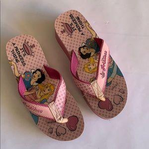 4/$20 Disney Princess Platform Flip Flops